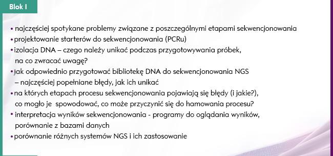 Szkolenie: Sekwencjonowanie DNA