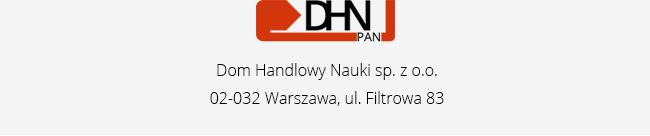 Dom Handlowy Nauki sp. z o.o. 02-032 Warszawa, ul. Filtrowa 83