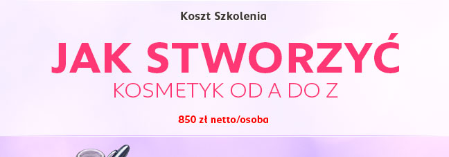 Koszt szkolenia: 850 zł netto/osoba
